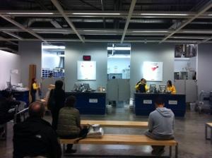Returns desk at IKEA